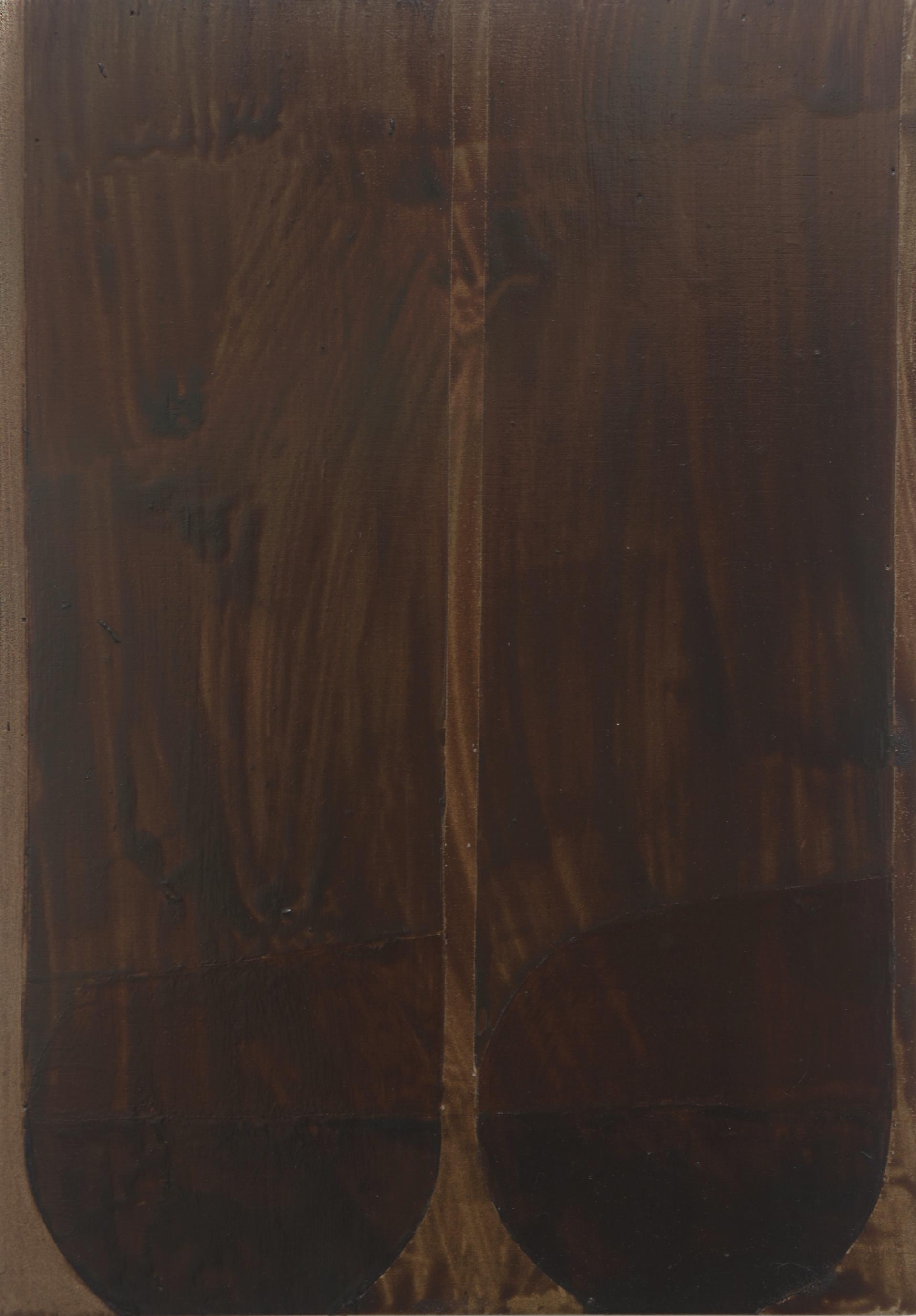 Sin título (barnices XI). 2019. 21x30cm. Barniz sobre madera