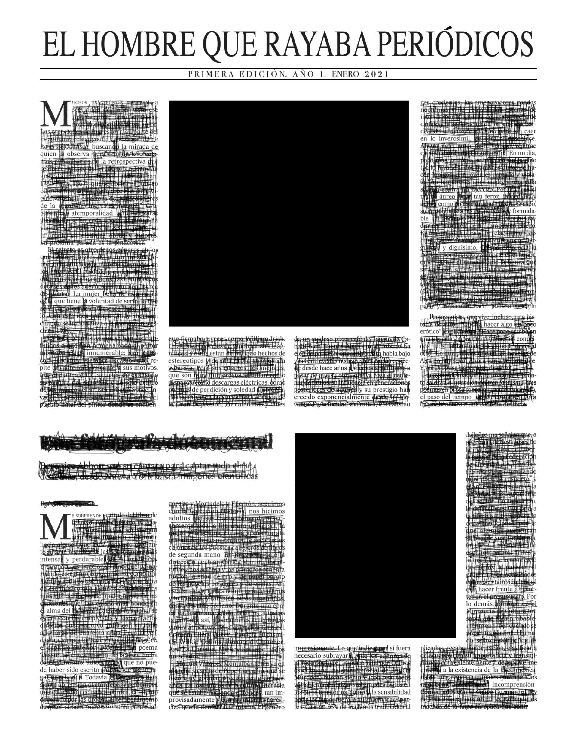 El hombre que rayaba periódicos