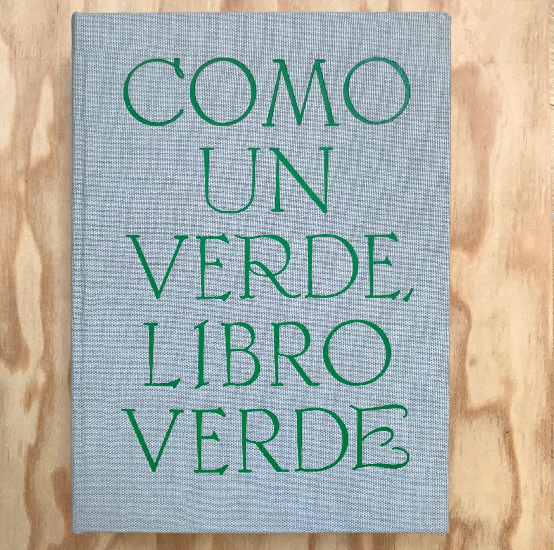 Como un verde, libro verde