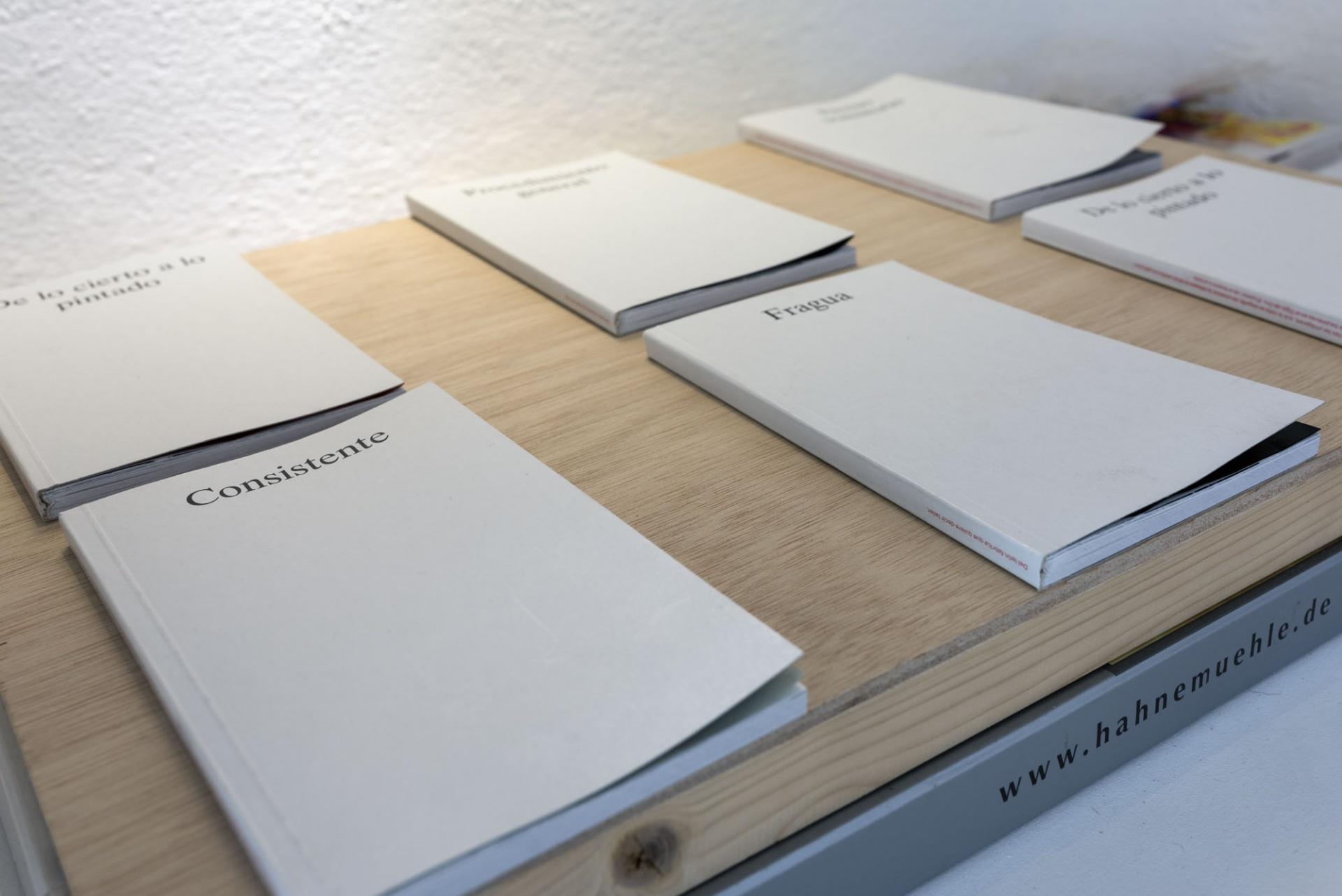 Almanaque/Libro de artista. 3 juegos de 5 libros