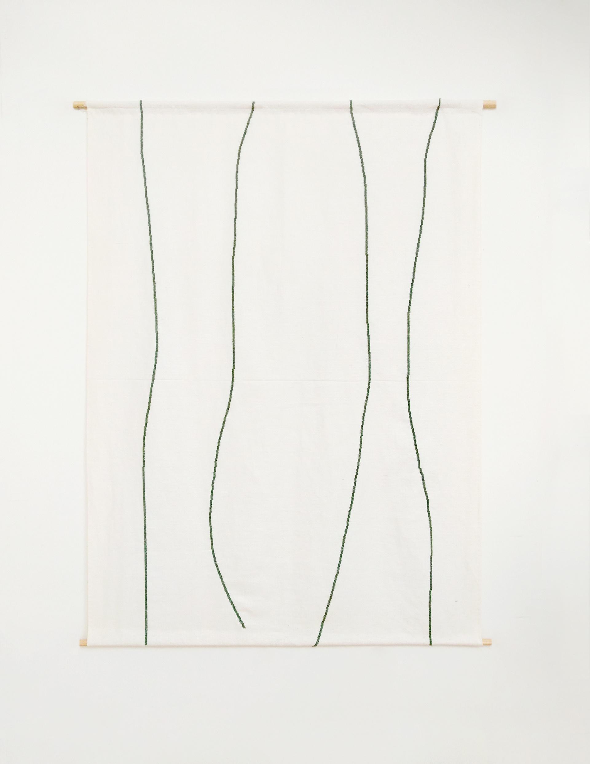 Julia Huete. S/T. Bordado s/algodón. 137x100 cm. 2020