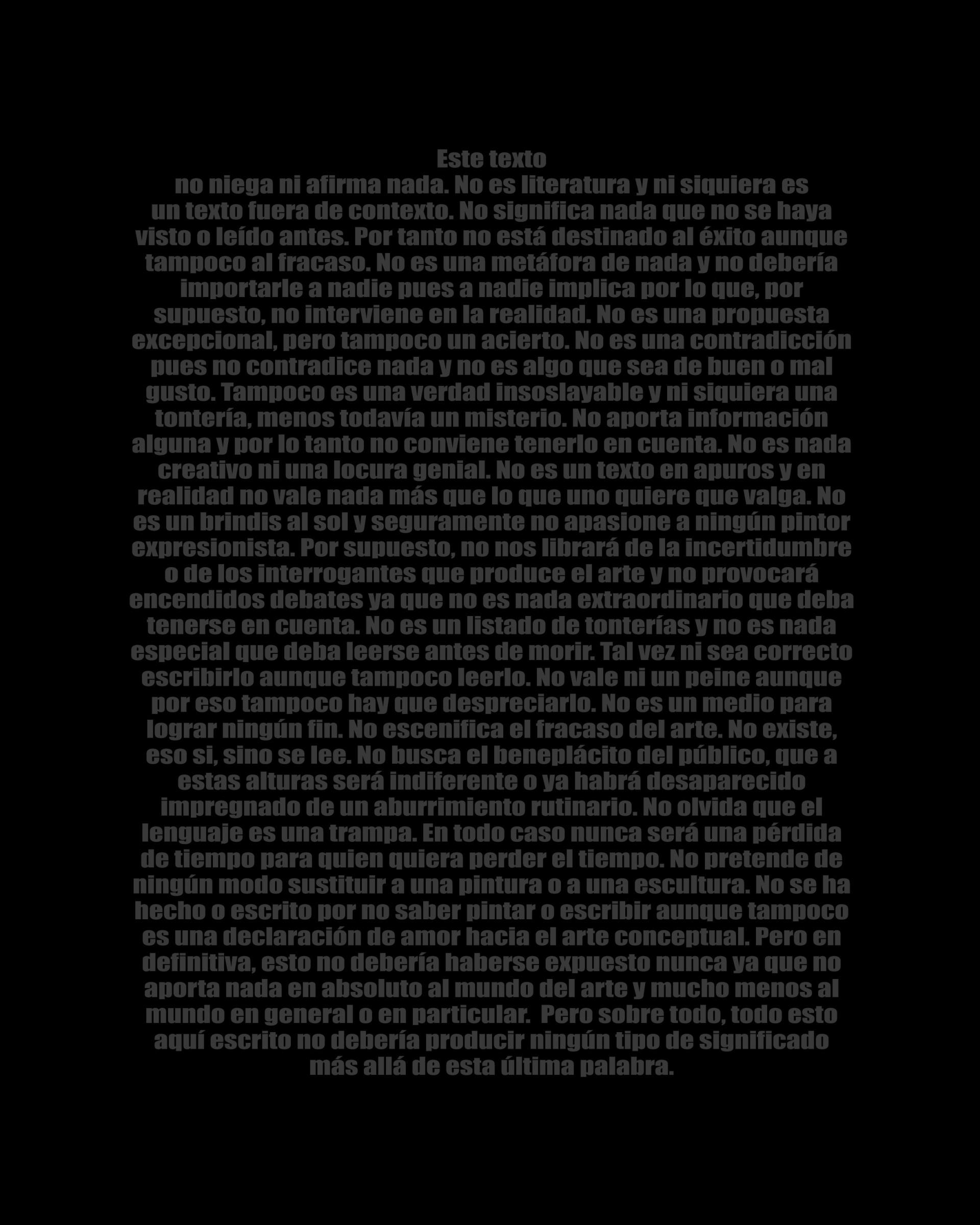 Serie Negro sobre Negro. 2018