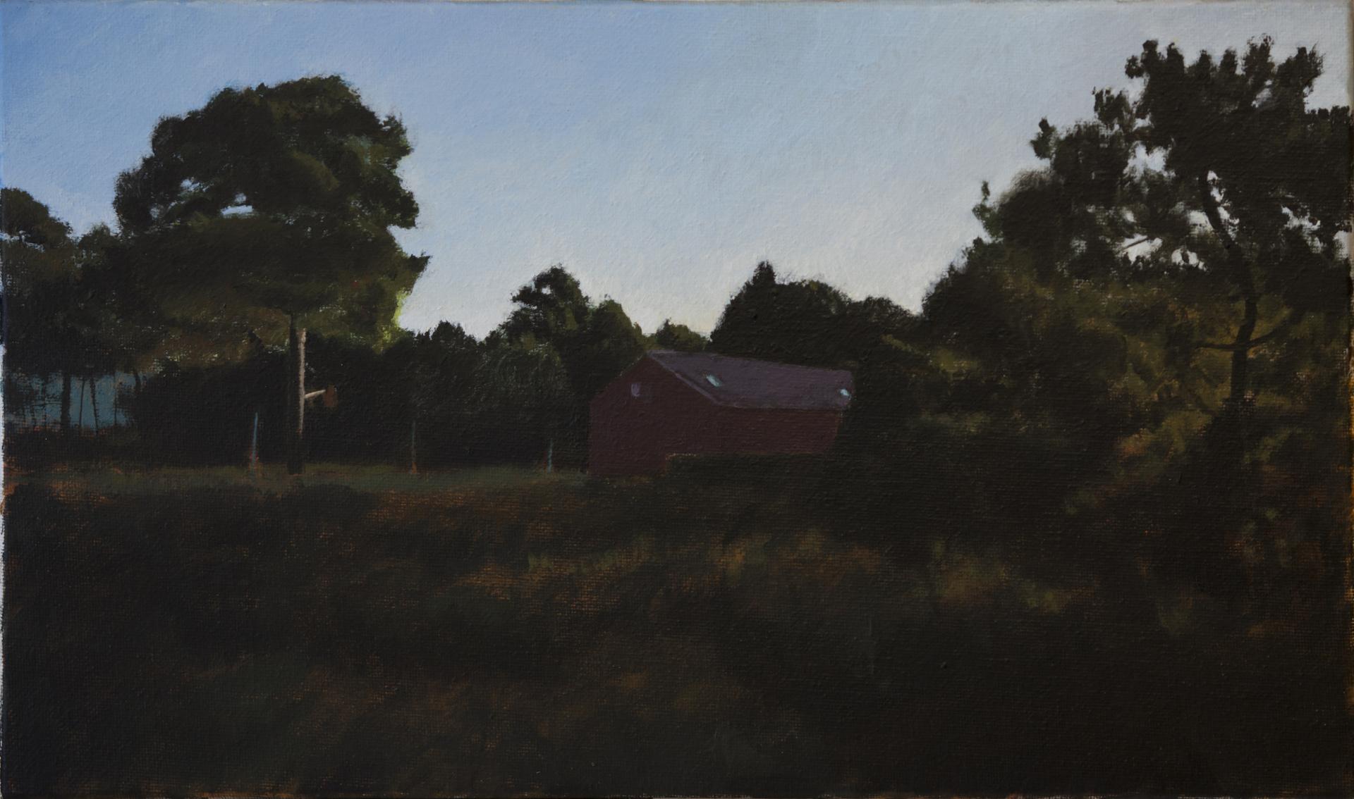 Casa para un pintor 2. Óleo s/tela. 22x37'5 cm. 2021