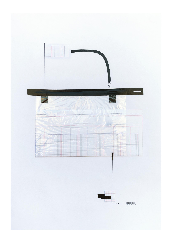 Luisa Pastor. Serie Estructuras I. Collage. 60x42 cm. 2020