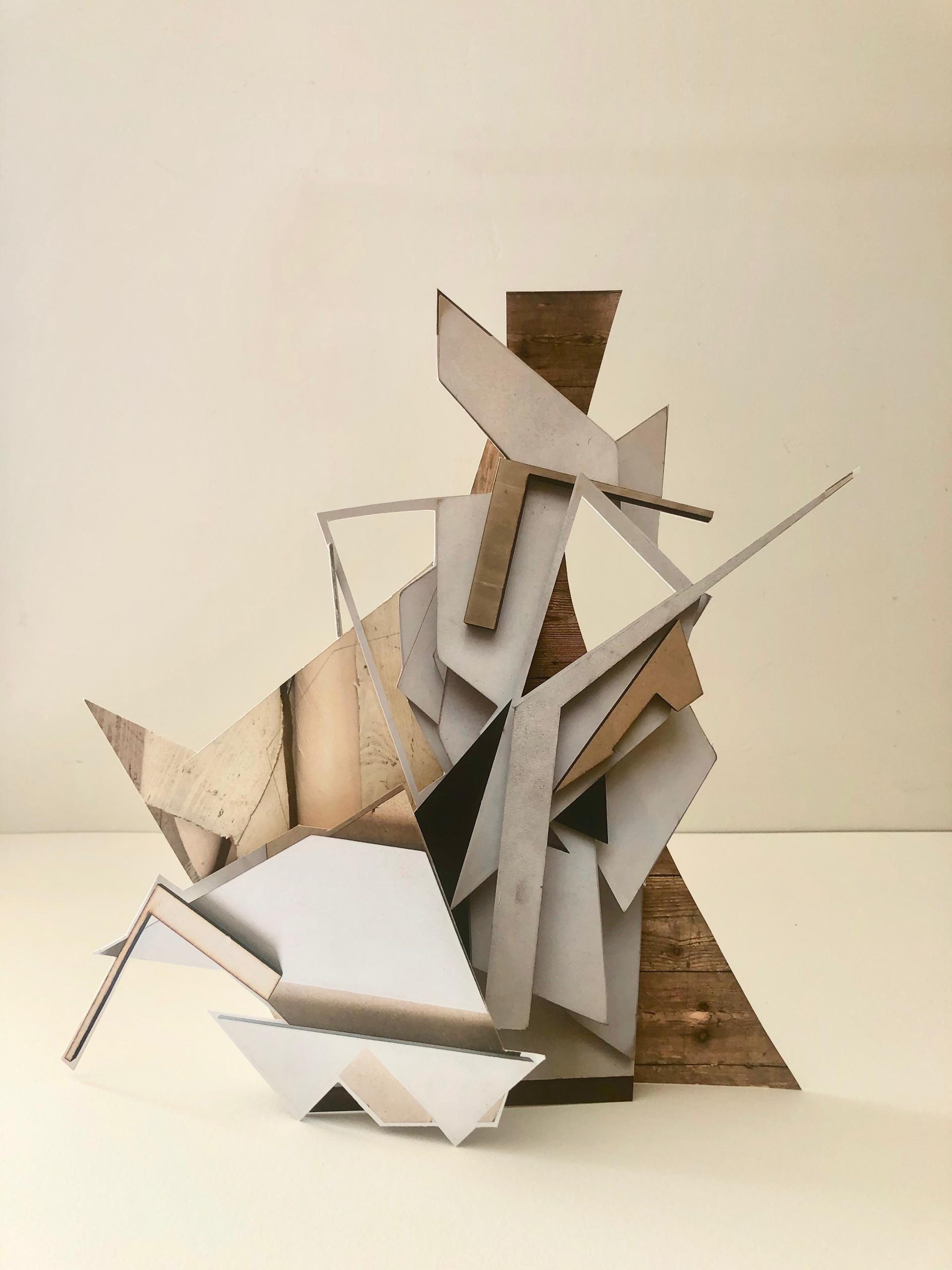 Andrea V Wright. Maquette for future sculpture 9  Digital Print, Card 26 x 35 x 9 cm. 2020
